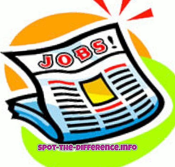 ความแตกต่างระหว่างงานและอาชีพ
