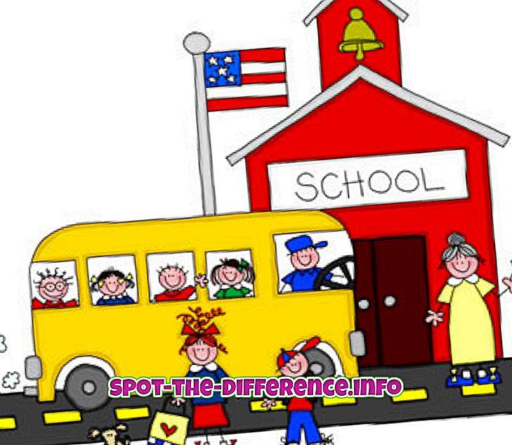 Kooli ja päevakooli erinevus