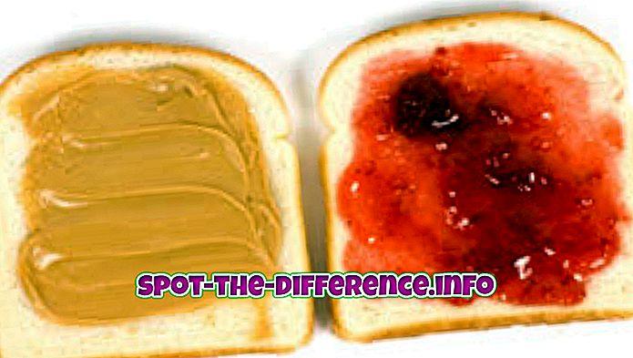 tautas salīdzinājumi: Starpība starp zemesriekstu sviestu un želeju