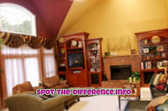 tautas salīdzinājumi: Starpība starp ģimenes istabu un dzīvojamo istabu