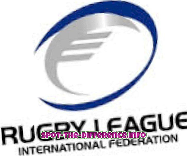 populaire vergelijkingen: Verschil tussen Rugby League en Rugby Union