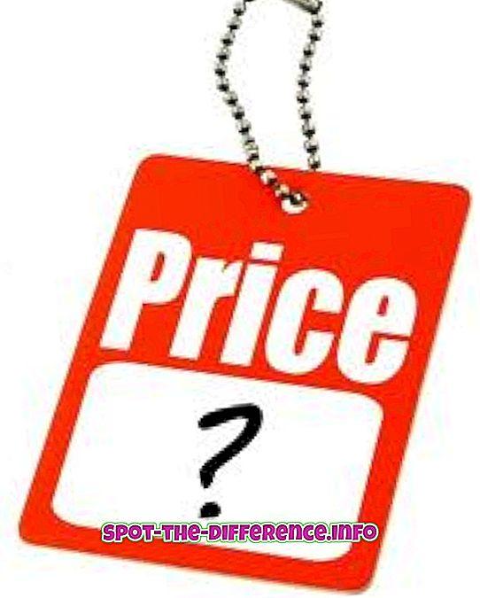 populære sammenligninger: Forskjellen mellom pris og priser