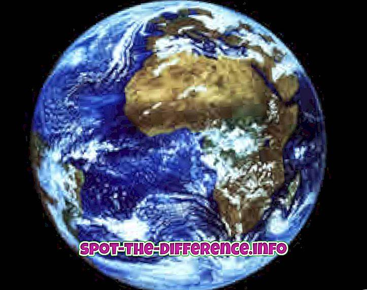 Différence entre la Terre et Vénus