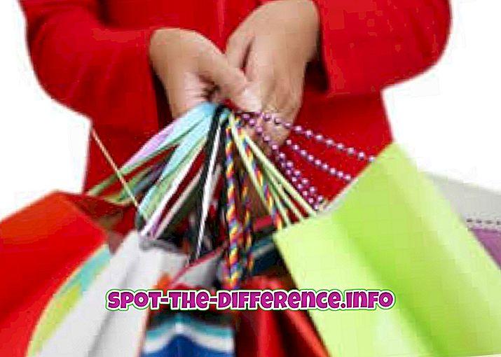 популарна поређења: Разлика између куповине и куповине