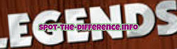 populární srovnání: Rozdíl mezi legendou a mýtem