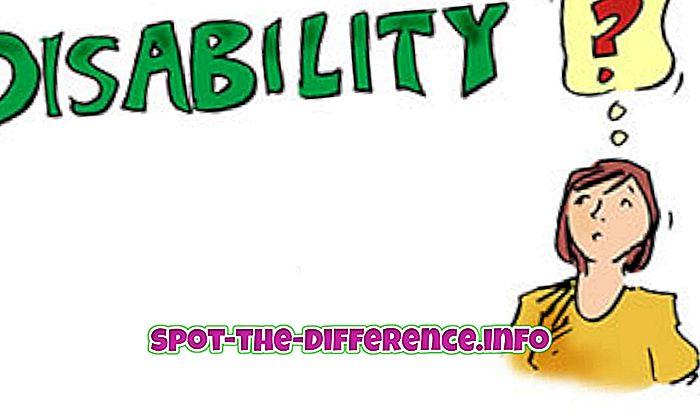 ความแตกต่างระหว่างความพิการและความผิดปกติ