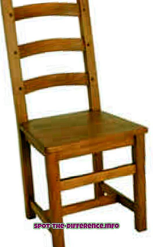 Rozdíl mezi židlí a stoličkou