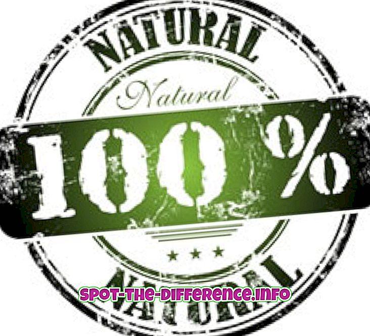 populære sammenligninger: Forskjellen mellom alt naturlig og organisk