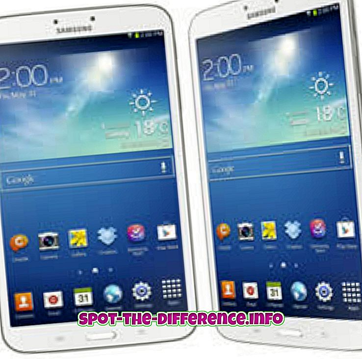 confronti popolari: Differenza tra Samsung Galaxy Tab 3 8.0 e iPad Mini