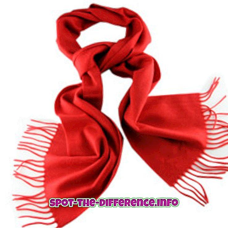 популарна поређења: Разлика између украдених и шалова
