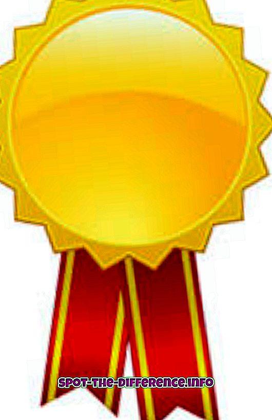 Sự khác biệt giữa một giải thưởng, phần thưởng và giải thưởng