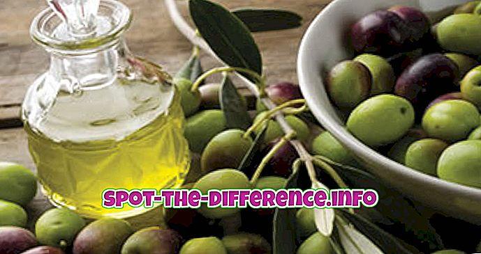 Oliiviõli ja taimse õli erinevus