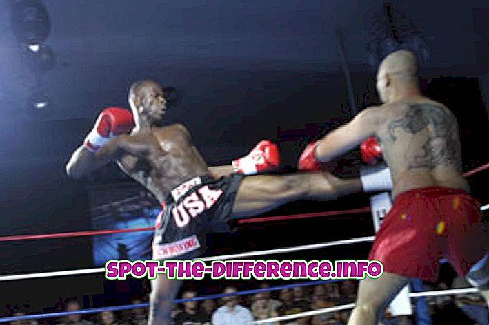 populárne porovnania: Rozdiel medzi Kickboxing a MMA