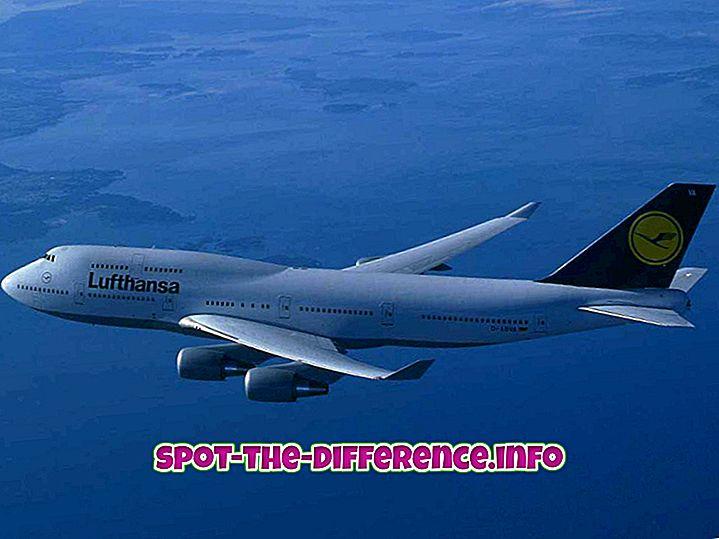 Perbedaan antara Pesawat dan Pesawat