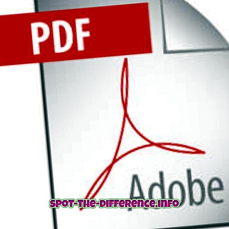 Różnica między PDF a DOC