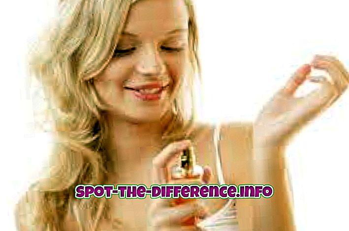 Starpība starp smaržu un smaržu
