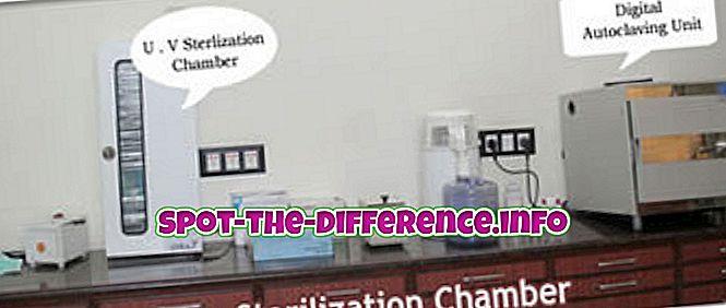 Forskjellen mellom sterilisering og sanering