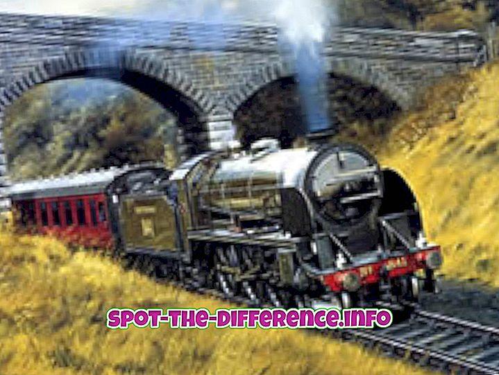 Starpība starp vilcienu un dzelzceļu