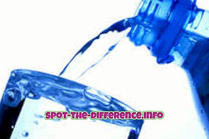 Unterschied zwischen Mineralwasser und abgepacktem Trinkwasser