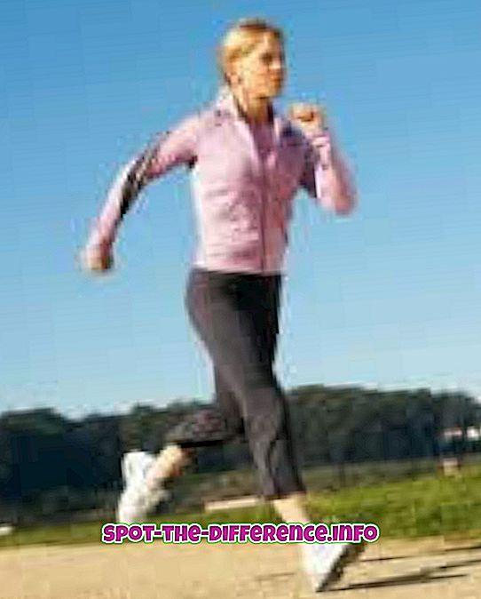 Verschil tussen joggen en hardlopen op de loopband