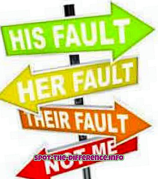 perbandingan populer: Perbedaan antara Kesalahan dan Kegagalan