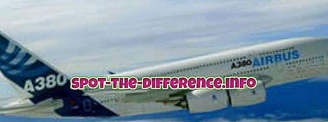 comparaisons populaires: Différence entre Airbus et Boeing