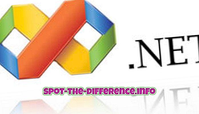 Erinevus .NET ja ASP.NET vahel