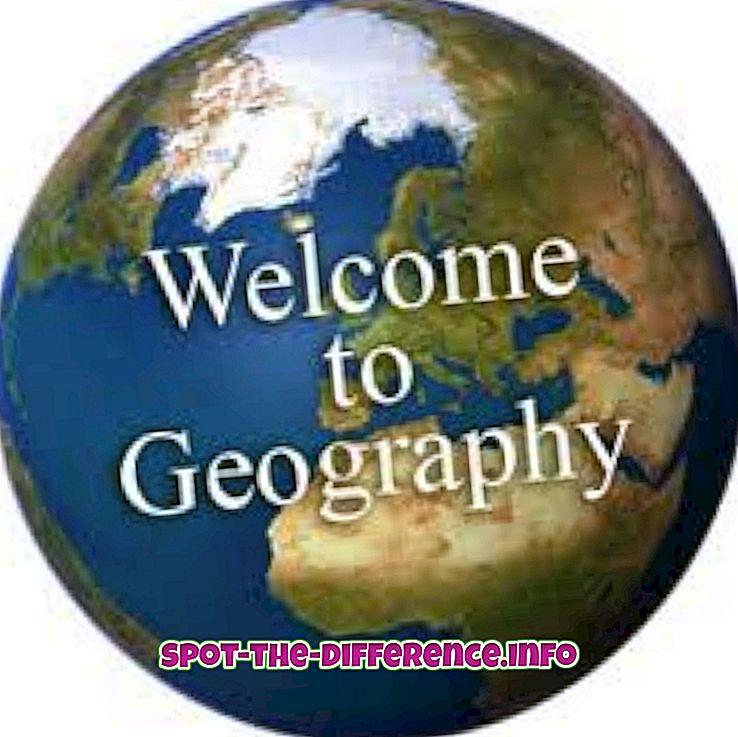 populární srovnání: Rozdíl mezi geografií a topografií