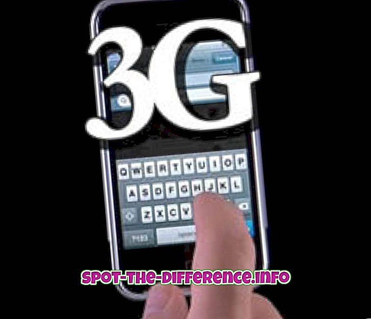 Forskjellen mellom 3G og CDMA