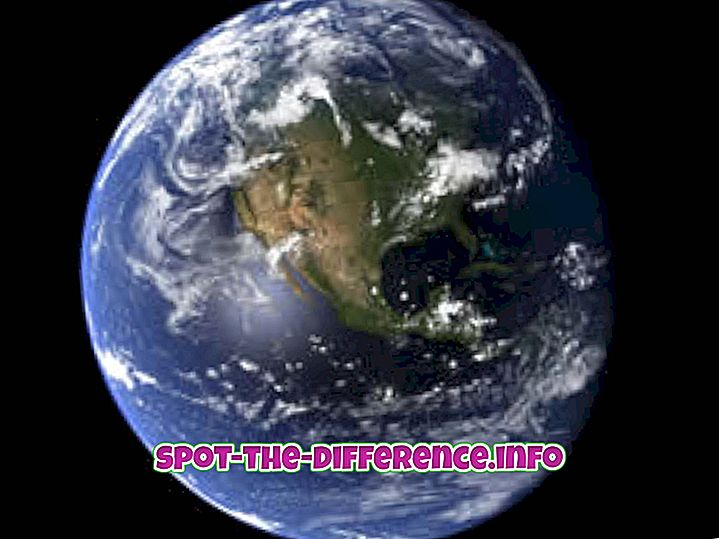 tautas salīdzinājumi: Starpība starp Zemi un Marsu