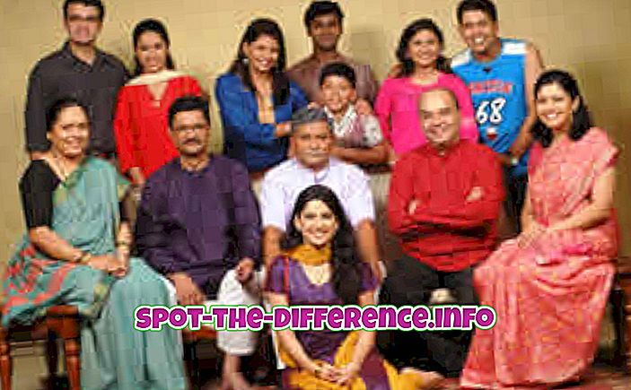 so sánh phổ biến: Sự khác biệt giữa Gia đình chung và Gia đình hạt nhân