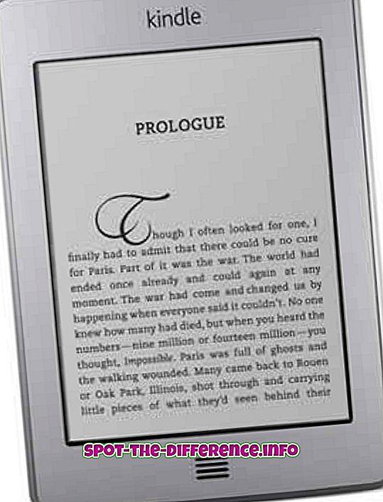 Rozdiel medzi Kindle a Kindle Paperwhite