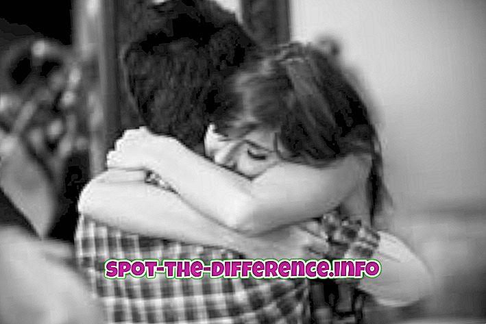 Разлика между Hug и Cuddle