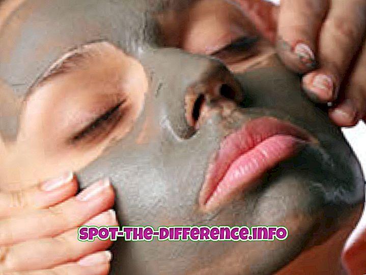Różnica między maseczką na twarz i pakietem twarzy