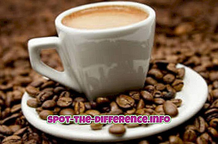 populaarsed võrdlused: Erinevus Cappuccino ja Espresso vahel