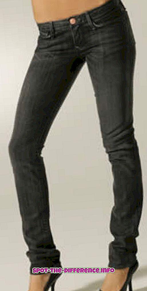 Atšķirība starp Skinny Jeans un Carrot Jeans