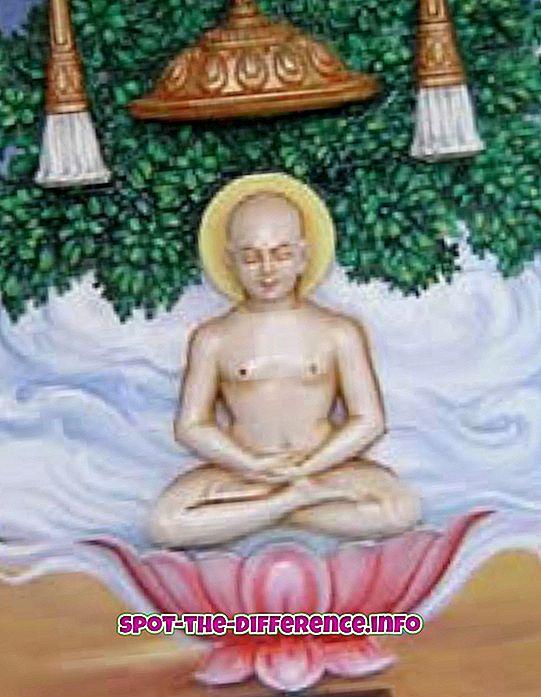 Jainismi ja budismi erinevus