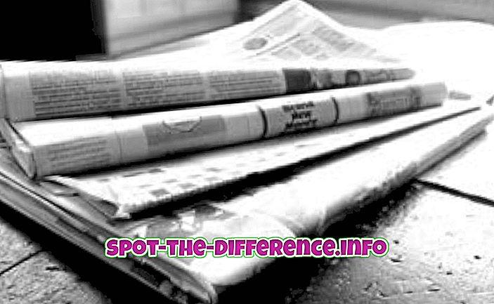 populære sammenligninger: Forskjellen mellom avis og magasin