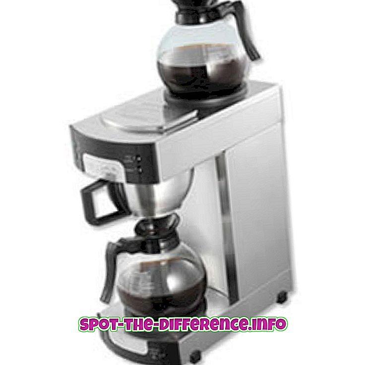 beliebte Vergleiche: Unterschied zwischen Kaffee und Filterkaffee