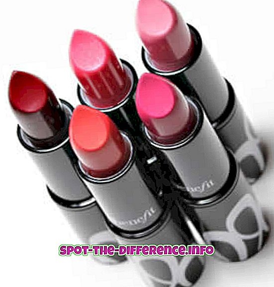 populære sammenligninger: Forskjell mellom leppestift og lipglans