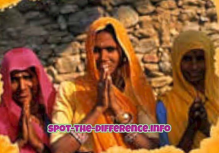 beliebte Vergleiche: Unterschied zwischen indischer und westlicher Kultur
