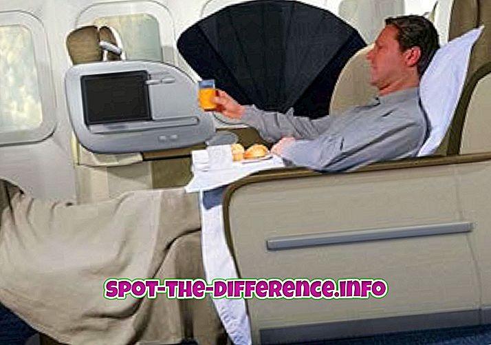 Διαφορά μεταξύ πτήσεων Business Class και First Class