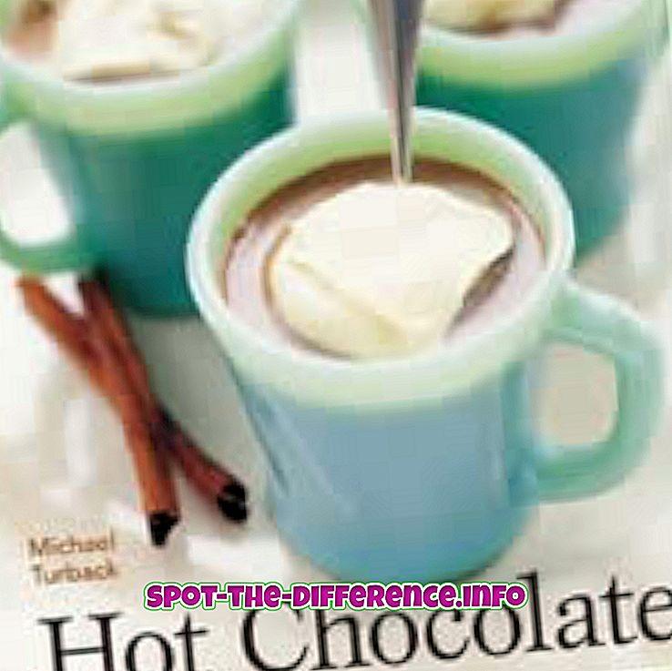 популарна поређења: Разлика између вруће чоколаде и врућег какаоа