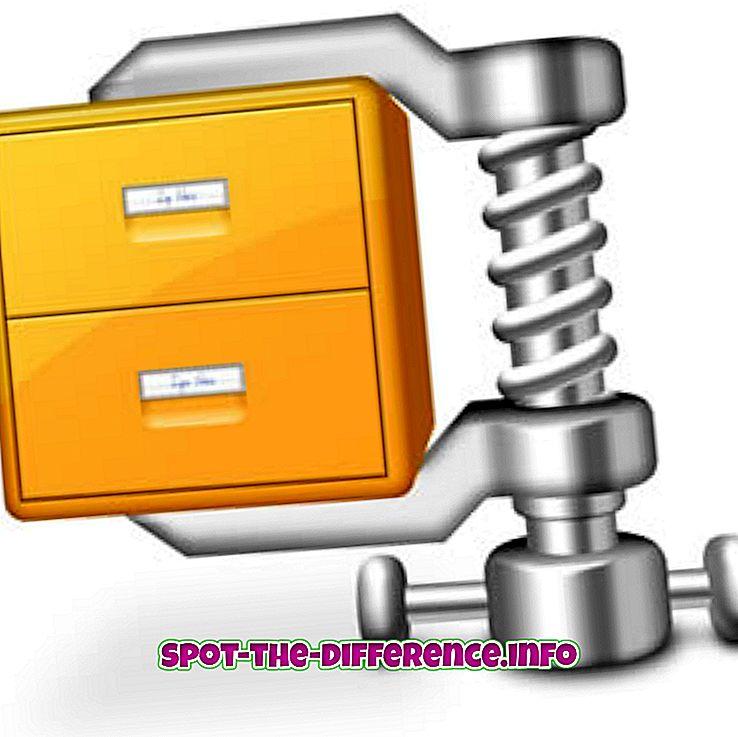 Forskjellen mellom ZIP og TAR