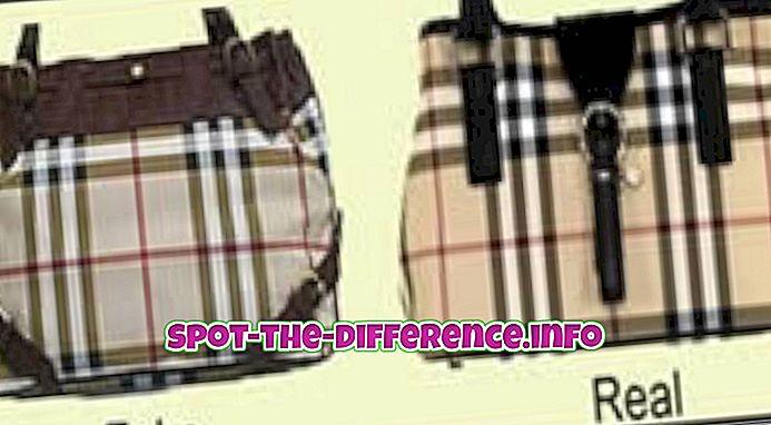 Unterschied zwischen realem und gefälschtem Burberry